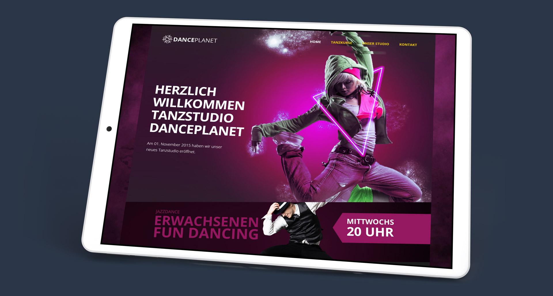 Tanzstudio Danceplanet Website