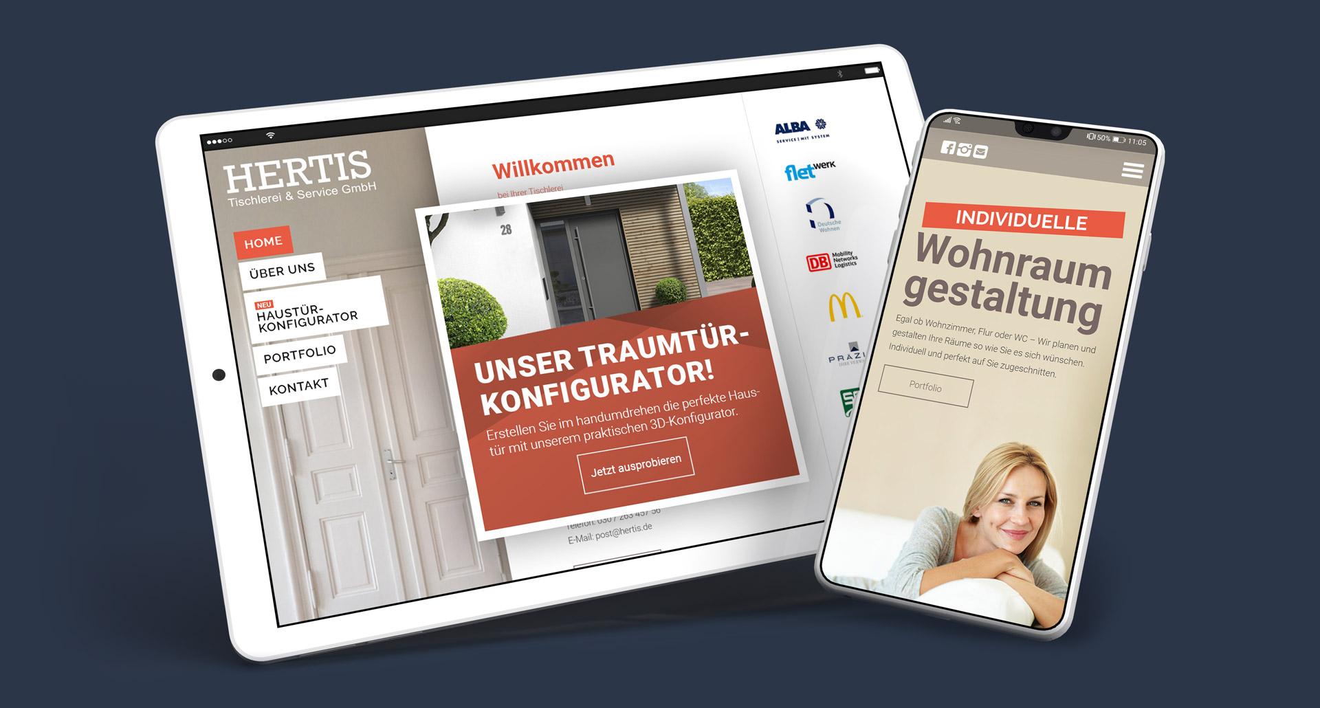 Hertis GmbH Website